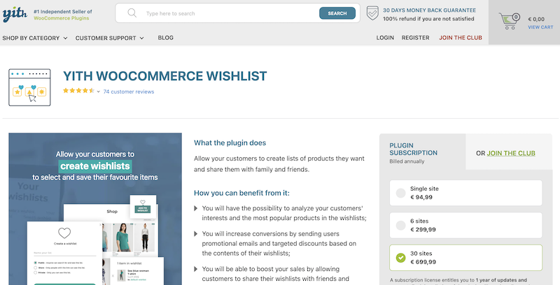Yith WooCommerce Wishlist Discount Code