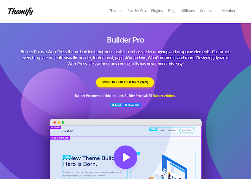 Themify Drag-and-Drop Page Builders