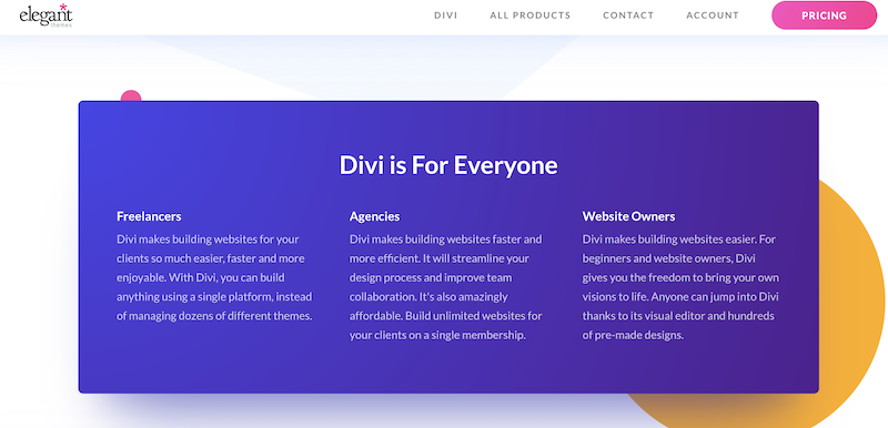 Divi Themes free options