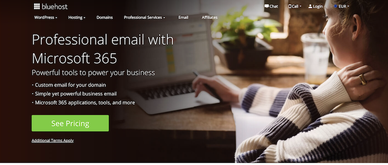 Does Bluehost offer email