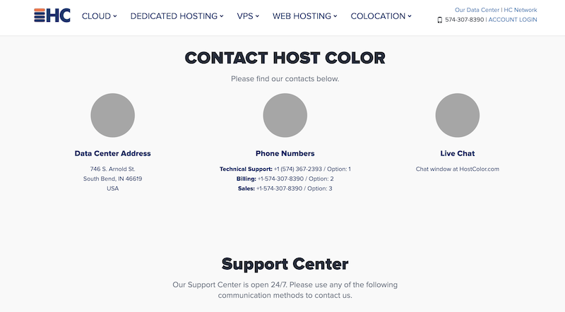 Host Color Promo Code contact
