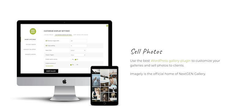 Imagely Selling Photos